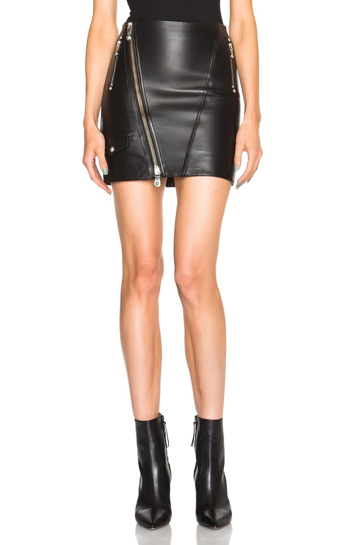 Image 1 of Versus Leather Skirt in Black