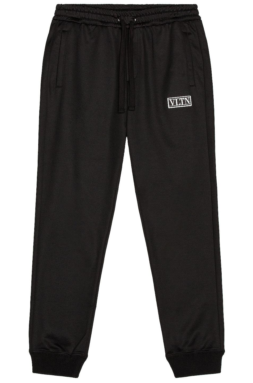 Image 1 of Valentino Tag Sweatpant in Black