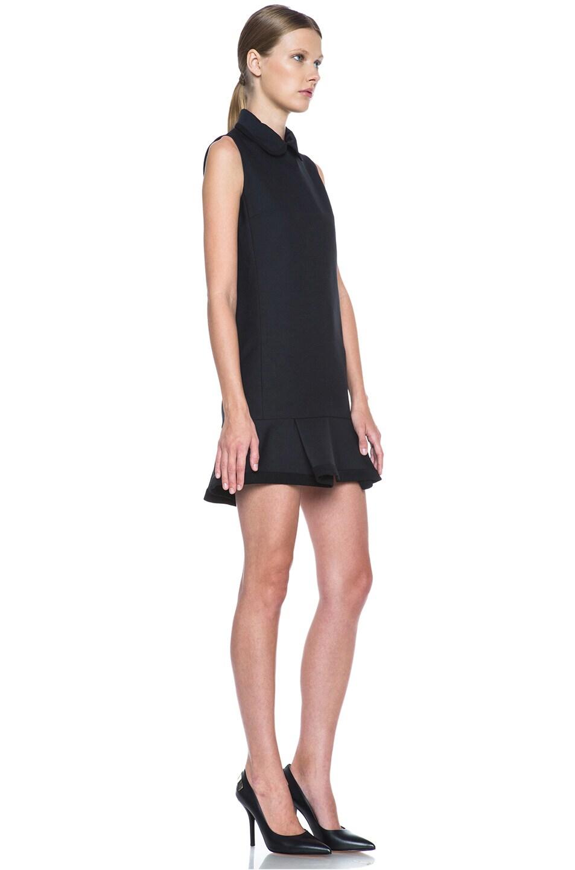 Image 3 of Victoria Victoria Beckham Scrunch Hem Poly-Blend Dress in Navy & Black