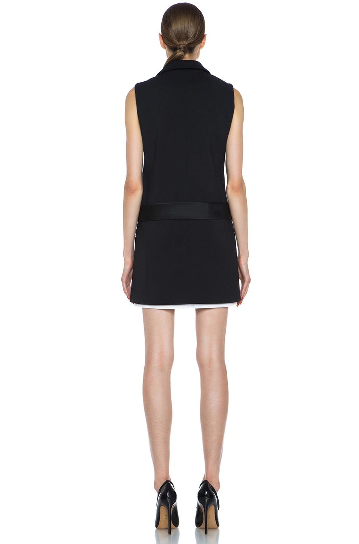 Image 4 of Victoria Victoria Beckham Tux Cotton-Blend Dress in Black & White