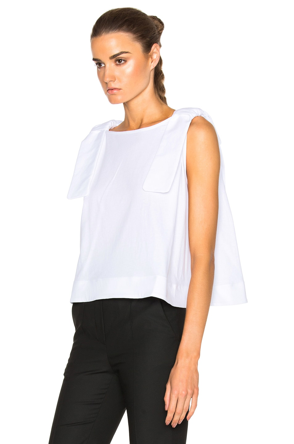 Image 2 of Victoria Victoria Beckham Double Knot Top in White