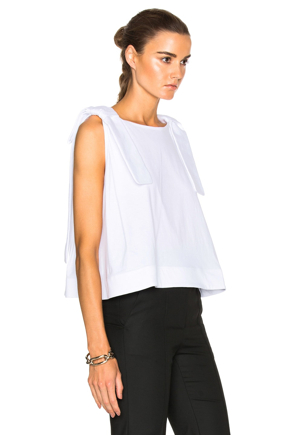 Image 3 of Victoria Victoria Beckham Double Knot Top in White