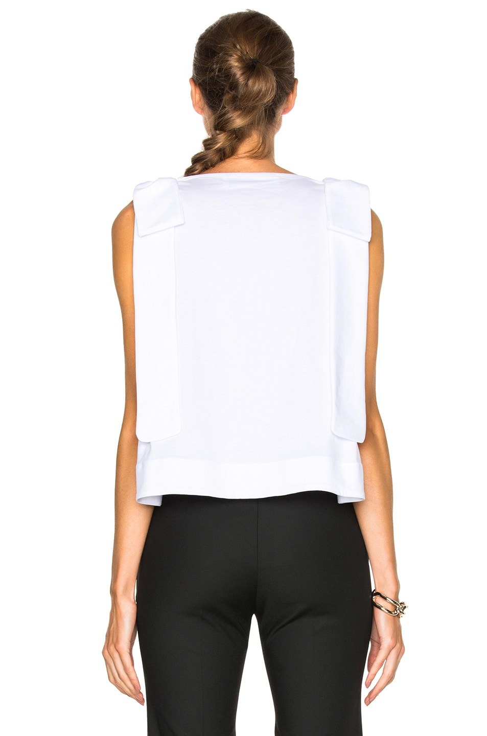 Image 4 of Victoria Victoria Beckham Double Knot Top in White