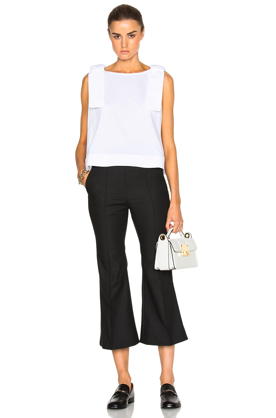Image 5 of Victoria Victoria Beckham Double Knot Top in White
