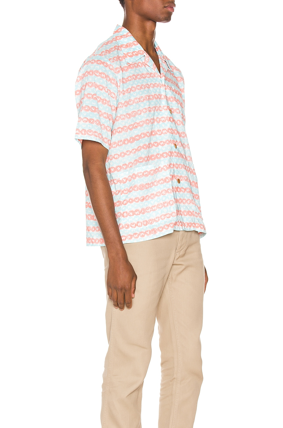 Image 2 of Visvim Ellery Haveli Shirt in Pink Pattern