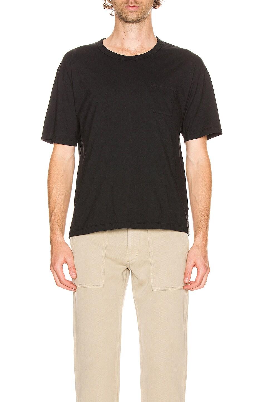 Image 1 of Visvim Short Sleeve Ultimate Jumbo Tee in Black
