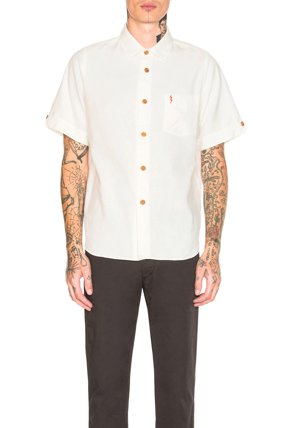 Image 2 of Visvim Ellas Lightening Shirt in White
