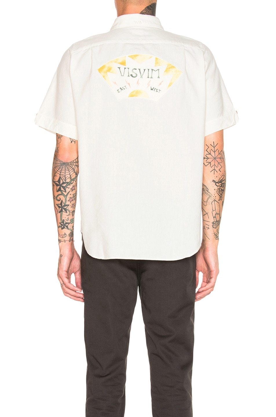 Image 4 of Visvim Ellas Lightening Shirt in White