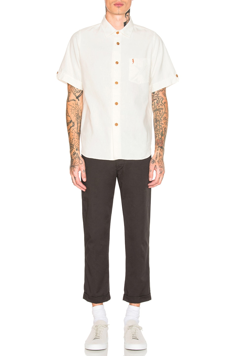 Image 5 of Visvim Ellas Lightening Shirt in White