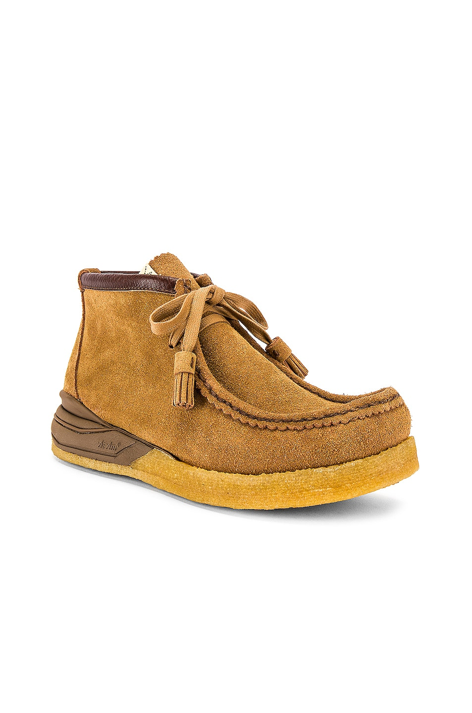 Image 1 of Visvim Sneaker Ankle Moccasin in Camel