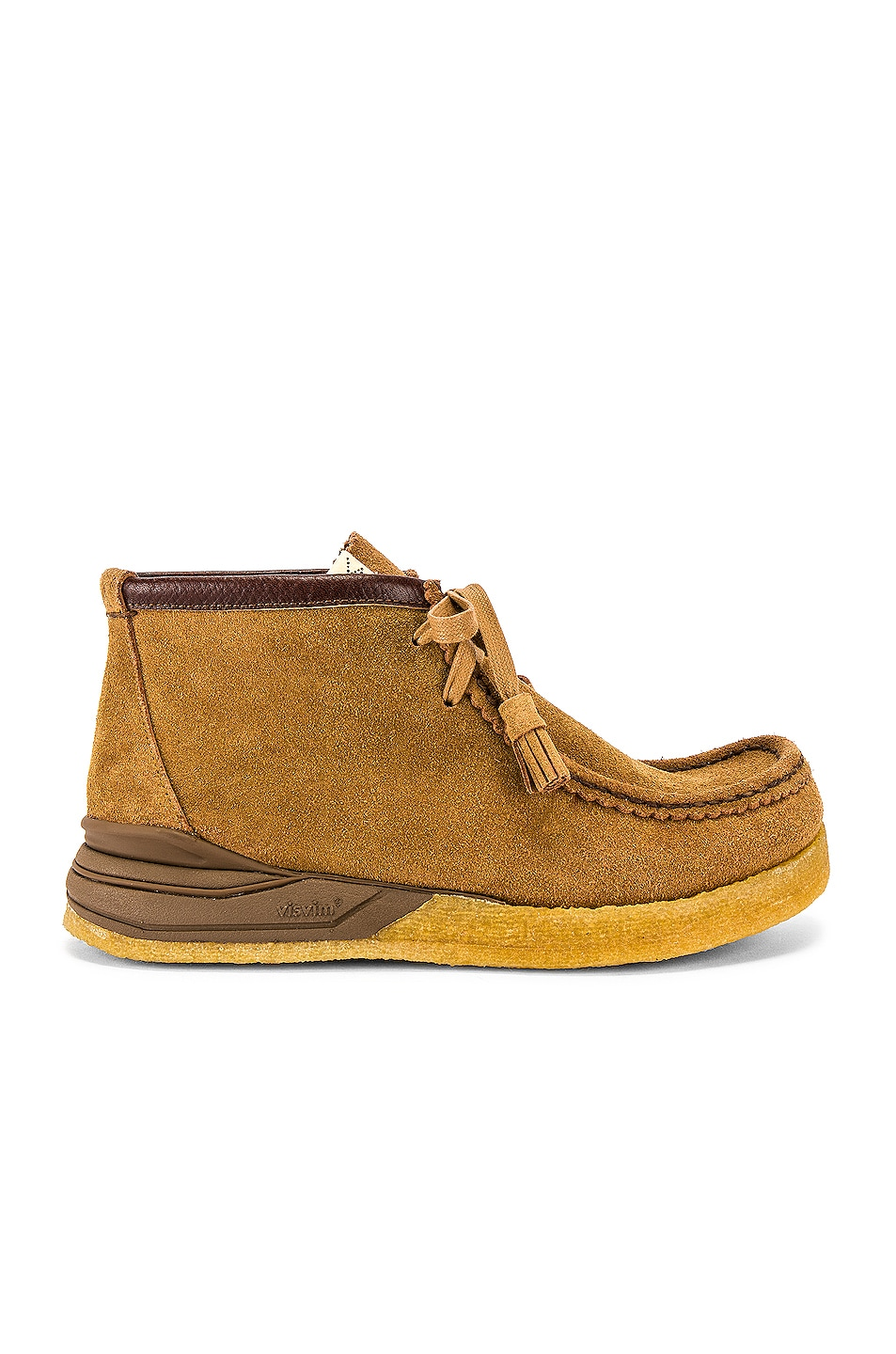 Image 2 of Visvim Sneaker Ankle Moccasin in Camel