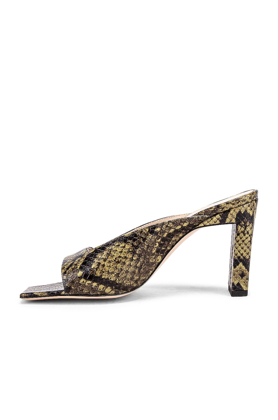 Image 5 of Wandler Isa Python Sandals in Olive