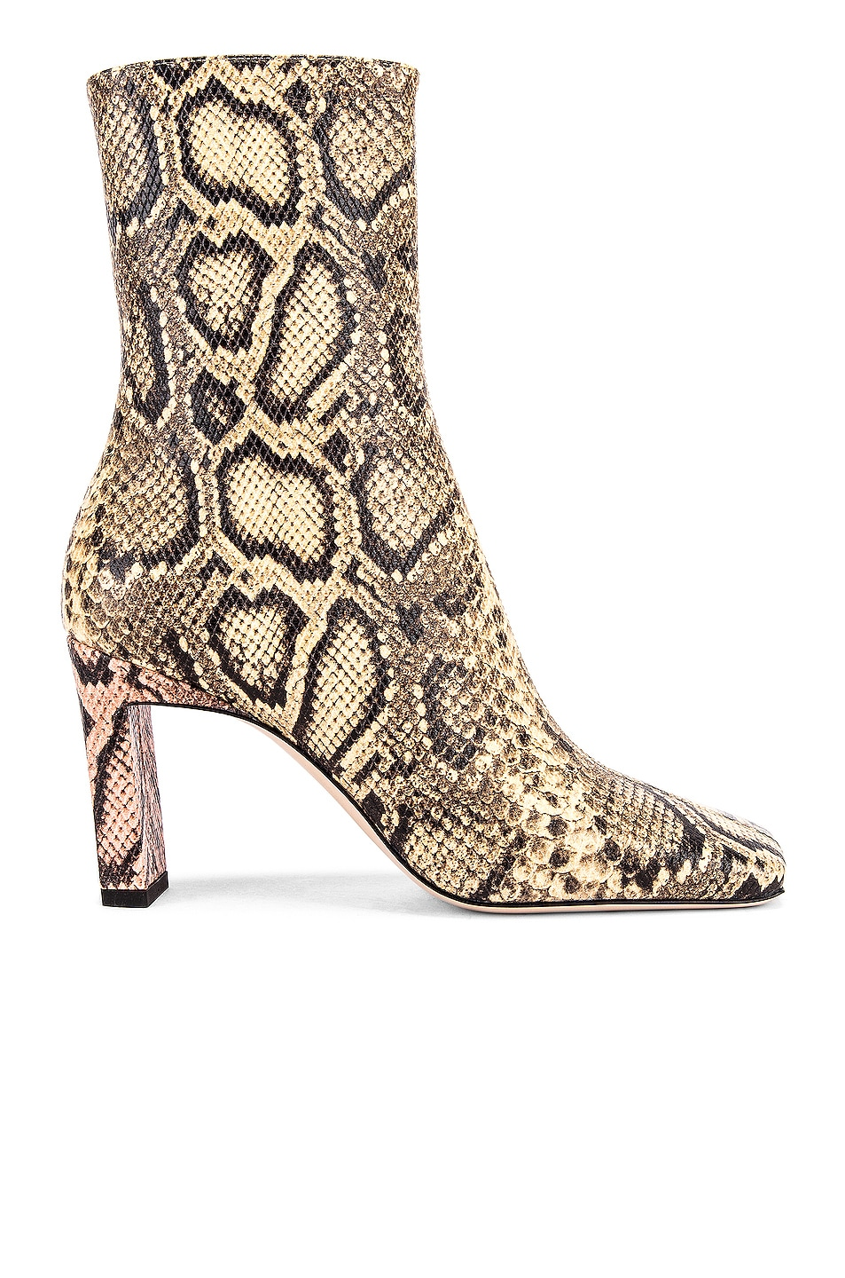 Image 1 of Wandler Isa Boots in Mustard & Python