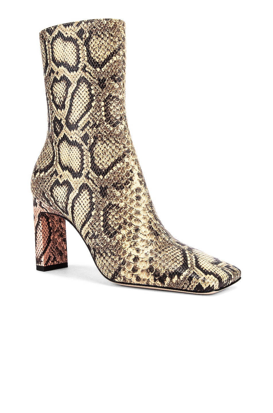 Image 2 of Wandler Isa Boots in Mustard & Python