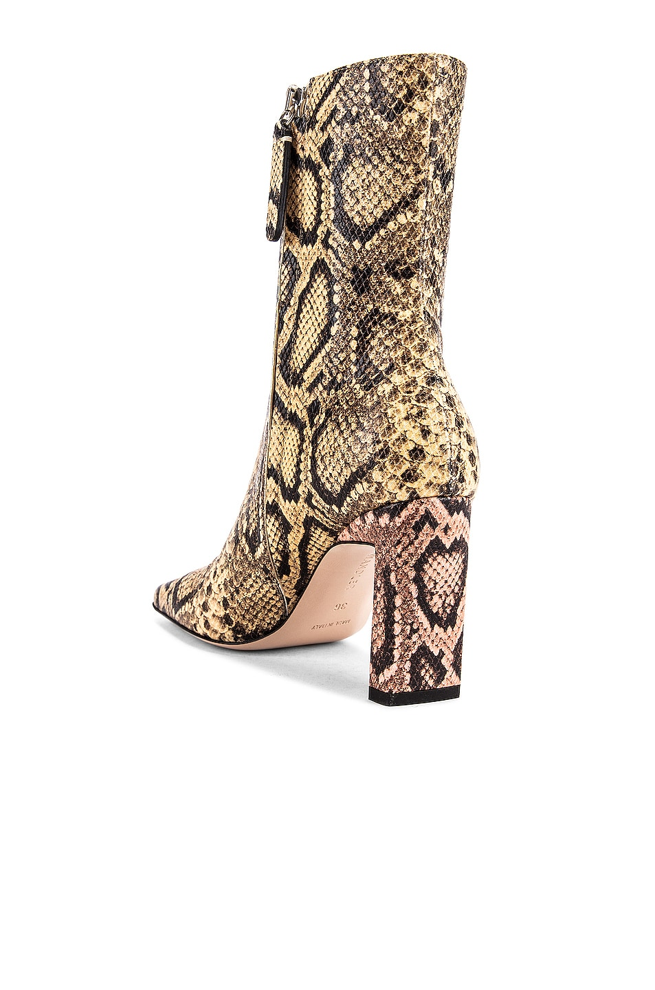 Image 3 of Wandler Isa Boots in Mustard & Python