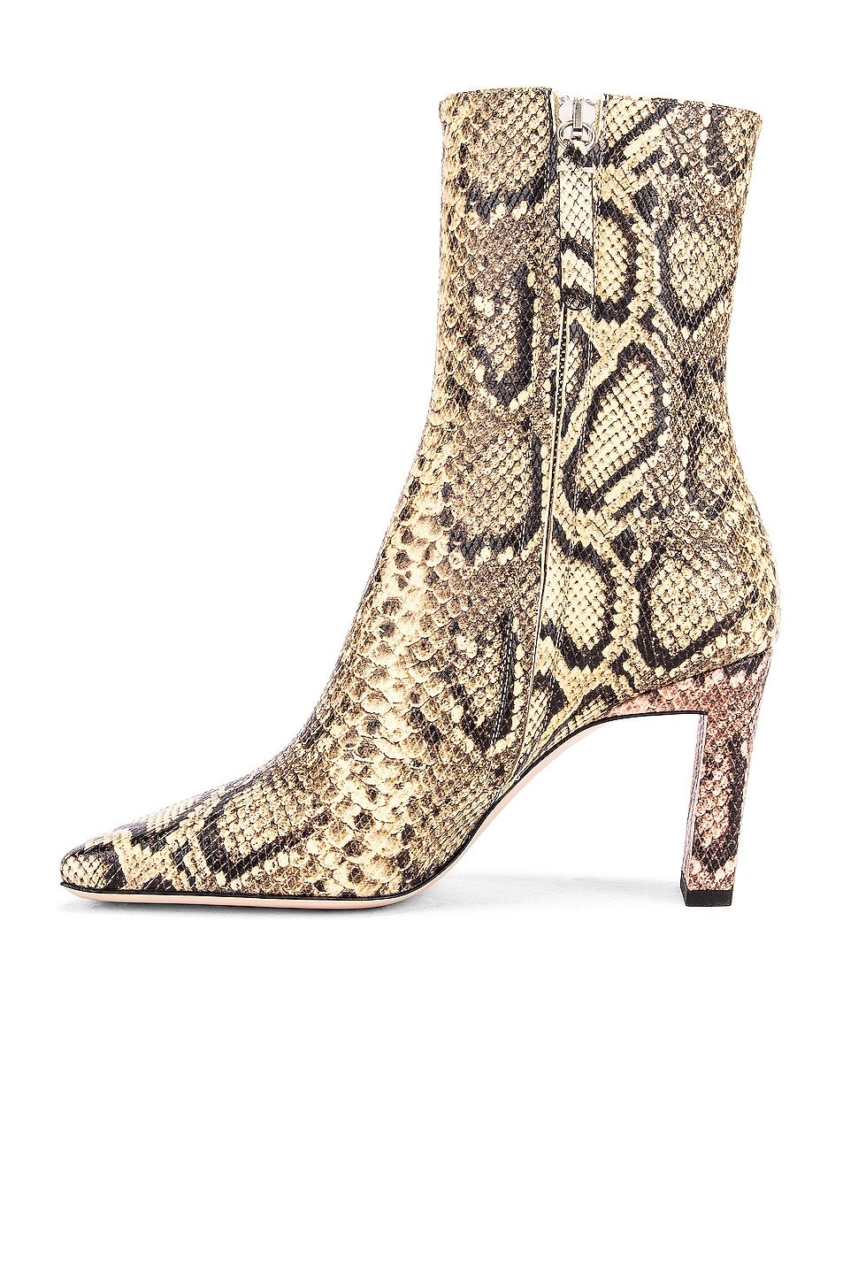 Image 5 of Wandler Isa Boots in Mustard & Python