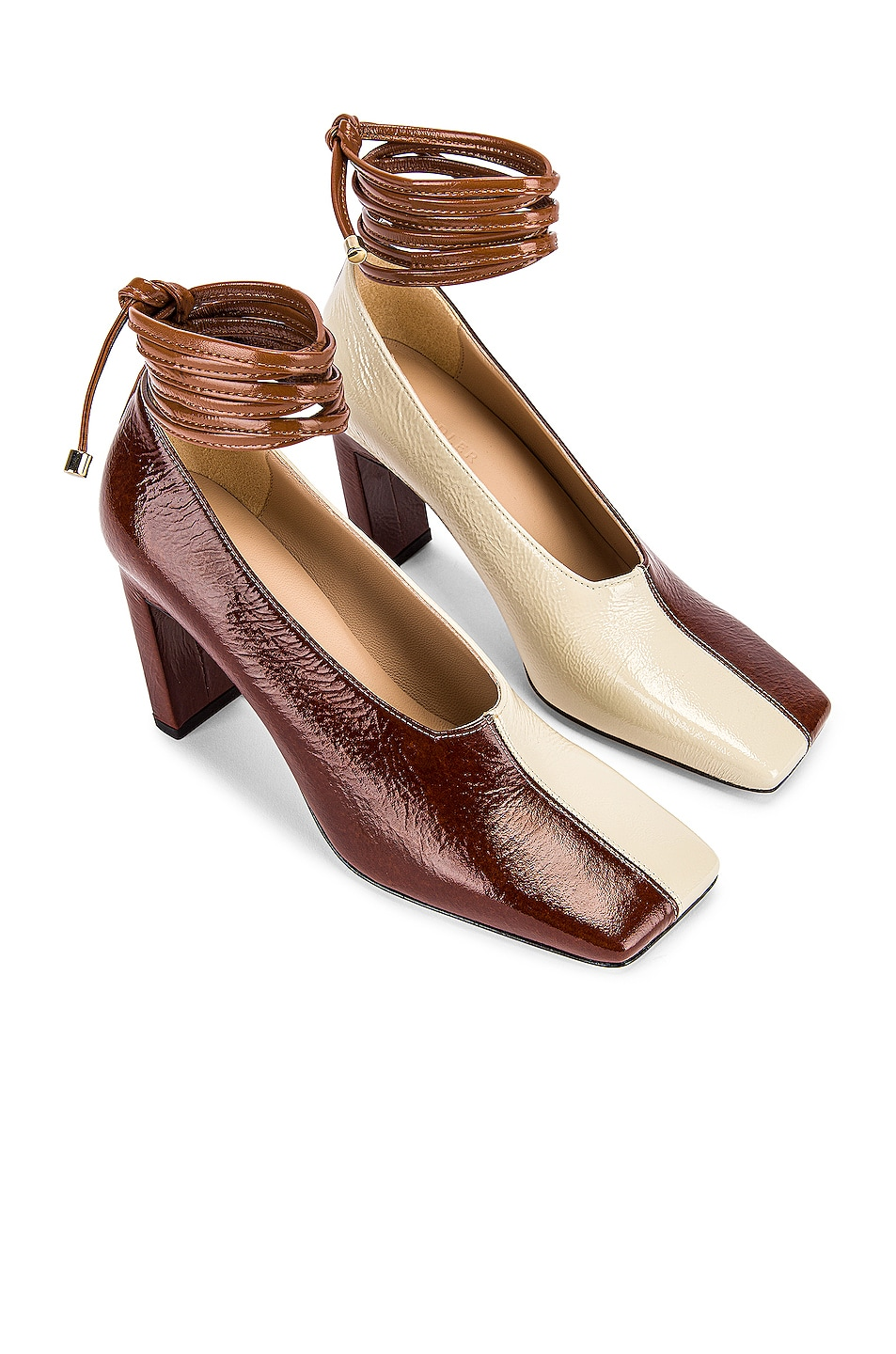 Image 1 of Wandler Isa Mules in Tan Shades