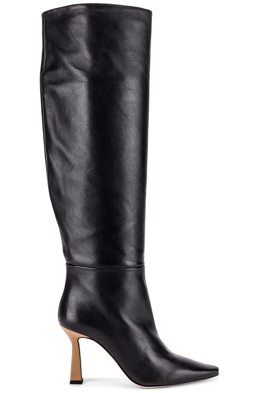 Image 1 of Wandler Lina Long Boots in Black & Khaki