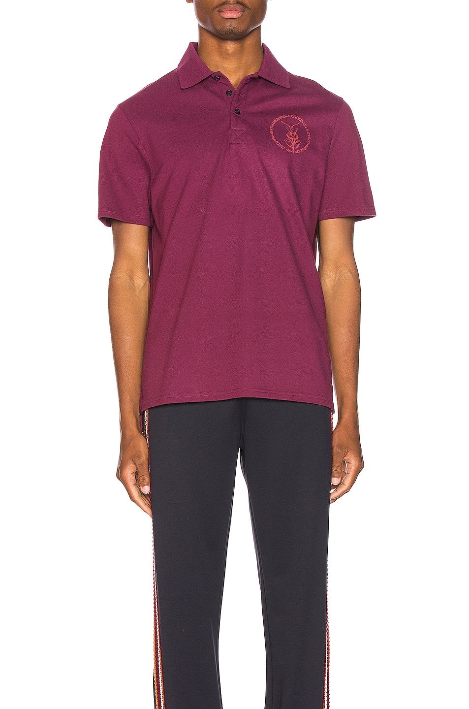 Image 1 of Wales Bonner Soul Polo in Burgundy