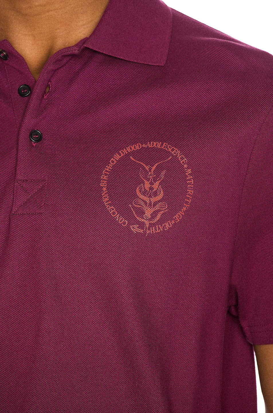 Image 5 of Wales Bonner Soul Polo in Burgundy