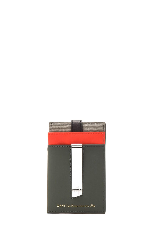Image 1 of Want Les Essentiels De La Vie Kennedy Leather Money Clip Wallet in Baltic Grey