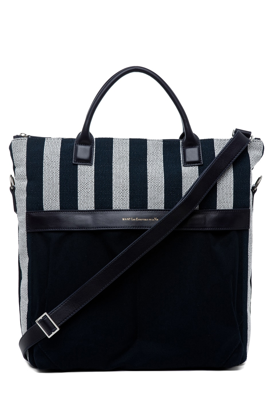 Image 1 of Want Les Essentiels De La Vie O'Hare 2 Shopper Tote in Navy Frise