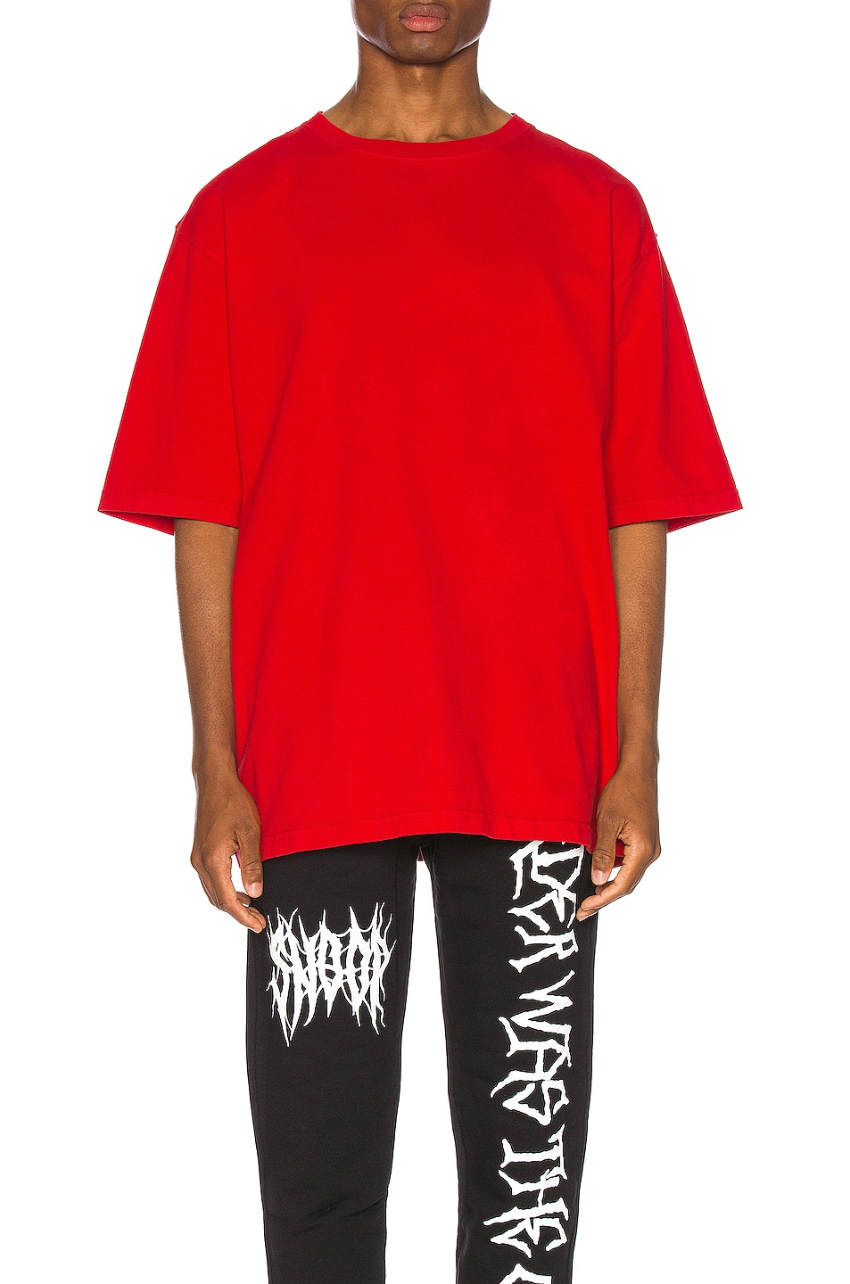 Image 2 of Warren Lotas Oversized Patch Tee in Red