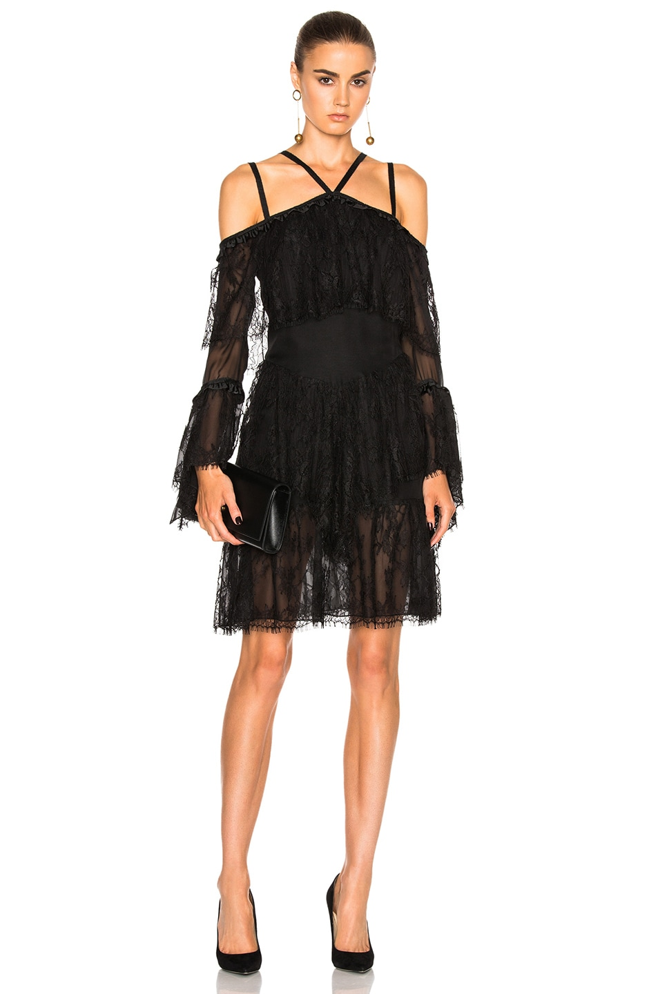 Image 1 of Wes Gordon Off Shoulder Dress in Black