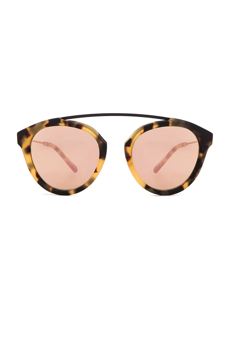 Image 1 of WESTWARD LEANING x Olivia Palermo Flower 13 Sunglasses in Sand Tortoise & Rose Gold