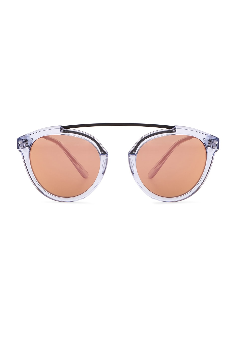 Image 1 of WESTWARD LEANING x Olivia Palermo Flower 14 Sunglasses in Blue Ice & Rose Gold