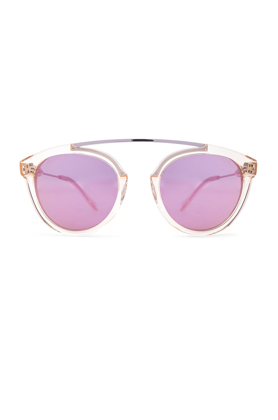 Image 1 of WESTWARD LEANING Flower 7 Sunglasses in Champagne & Pink