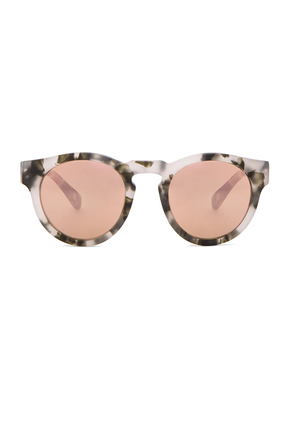 Image 1 of WESTWARD LEANING x Olivia Palermo Voyager 15 Sunglasses in Pepper Tortoise & Rose Gold