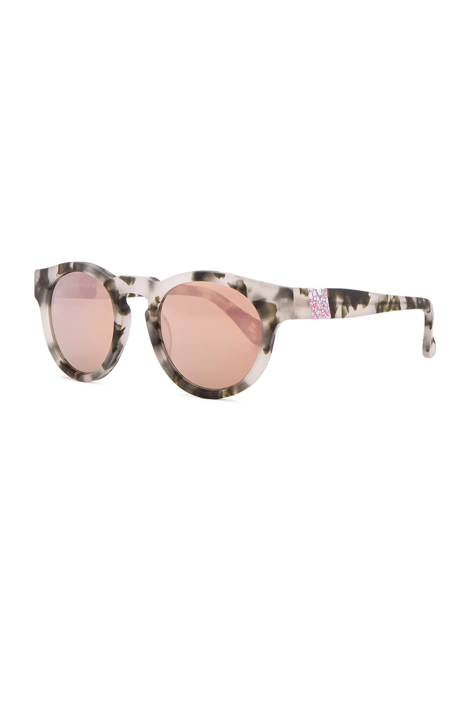Image 2 of WESTWARD LEANING x Olivia Palermo Voyager 15 Sunglasses in Pepper Tortoise & Rose Gold