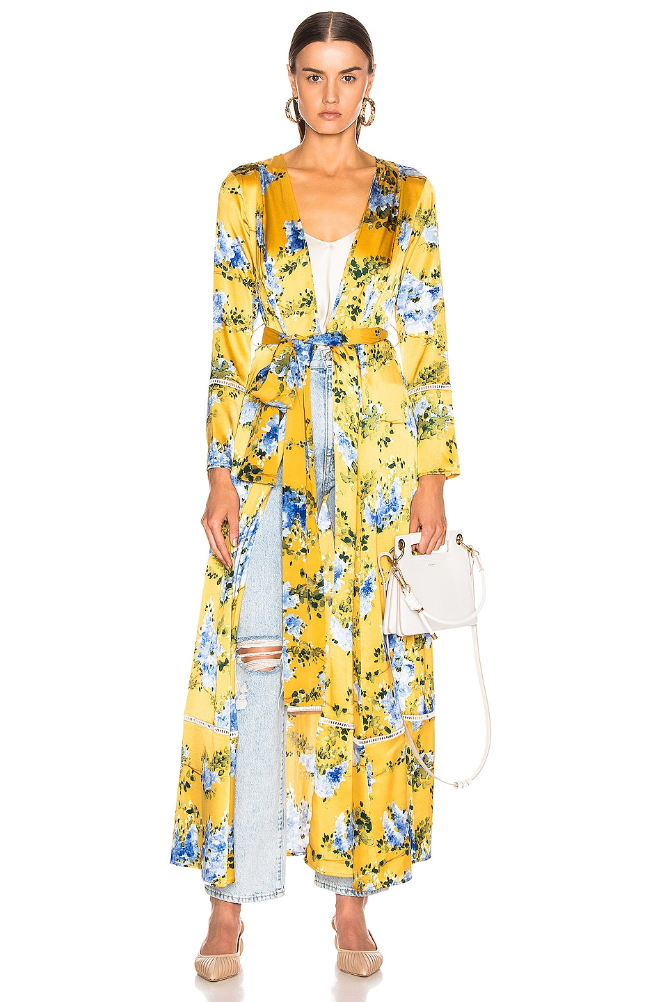 Image 1 of we are LEONE Maxi Cardigan in Wall Flower