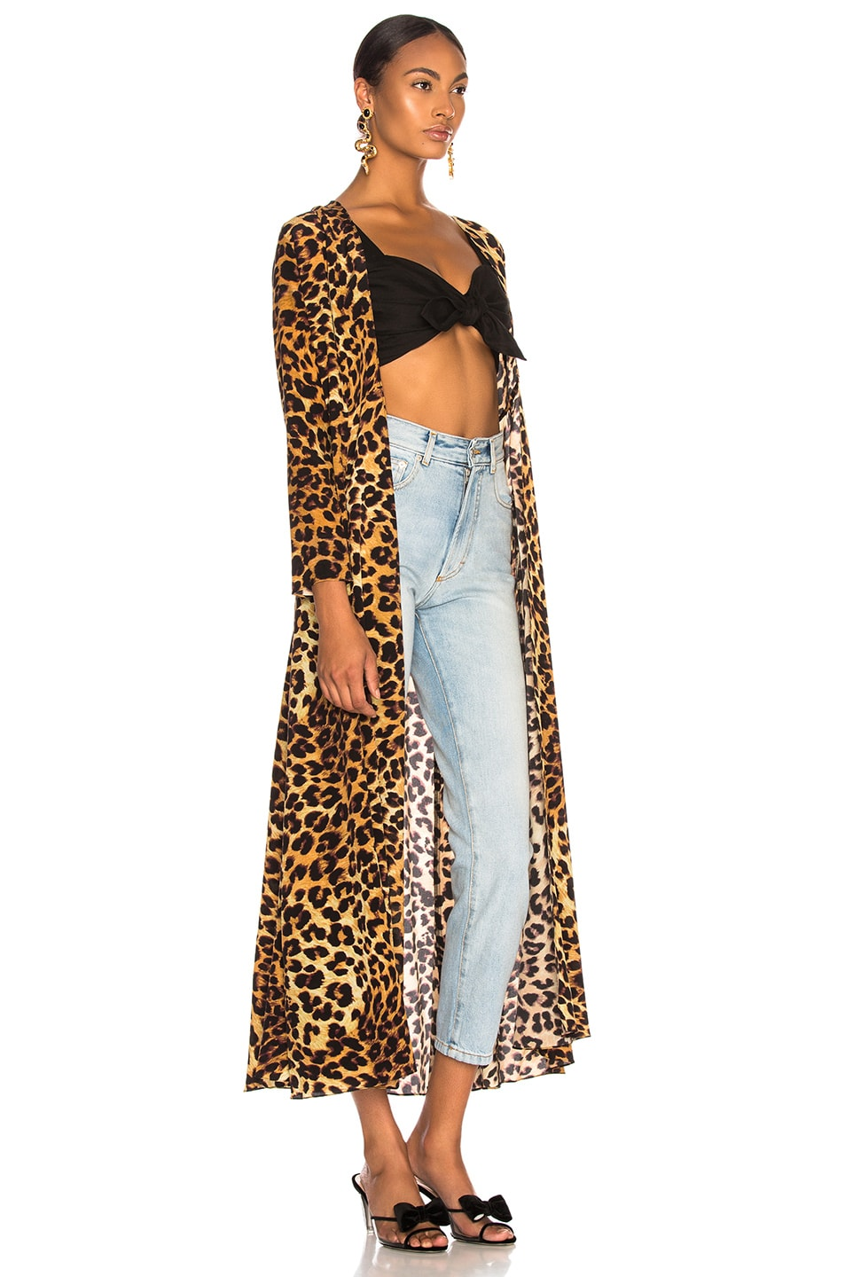 Image 2 of we are LEONE Maxi Cardigan in Leopard