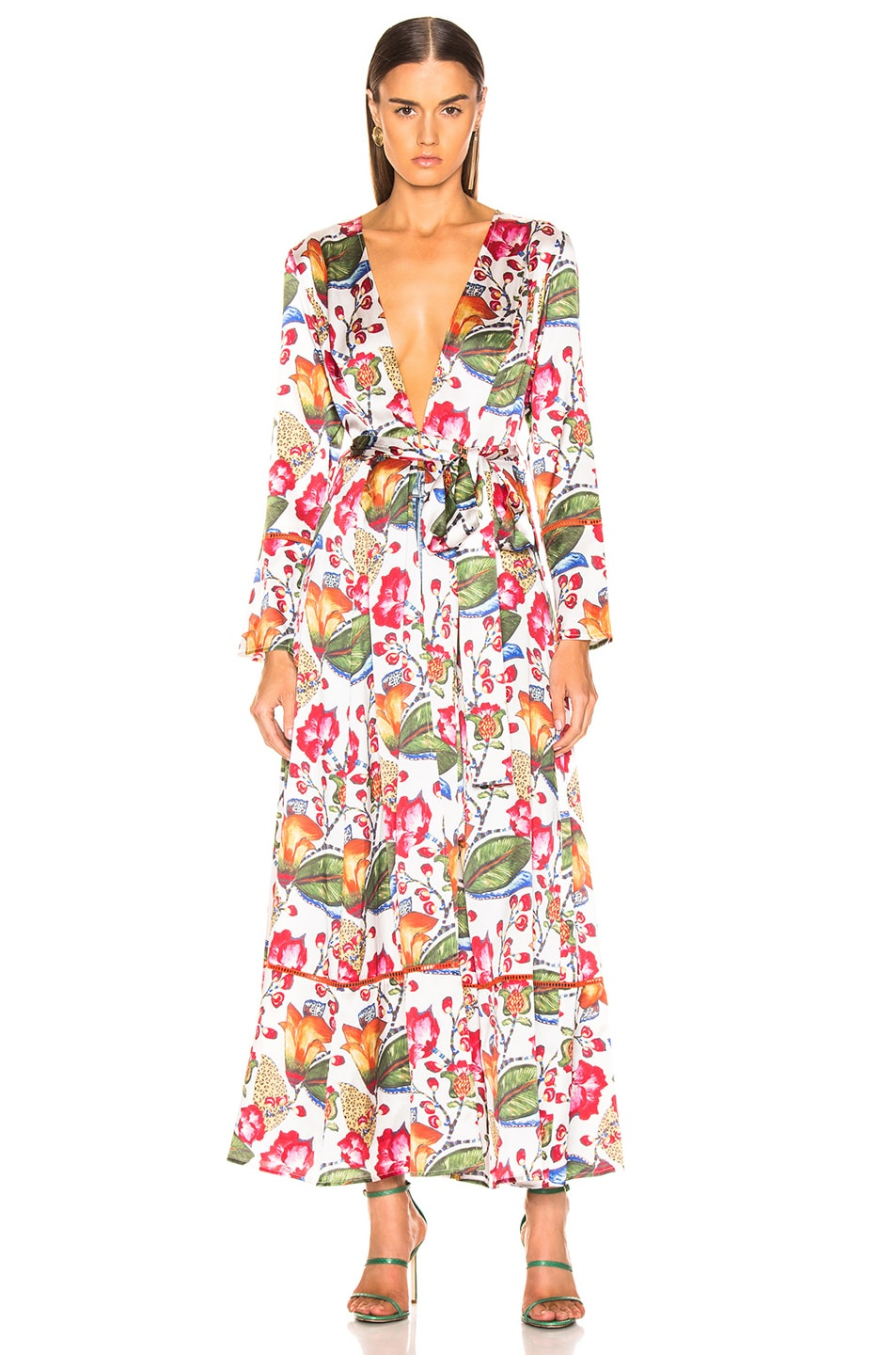 Image 2 of we are LEONE Contrast Maxi Cardigan in Jungle Print
