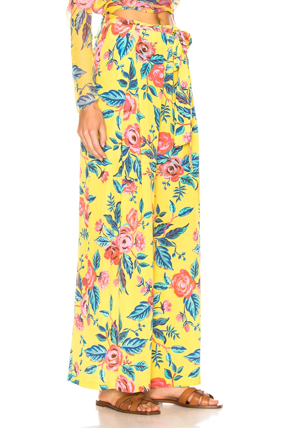 Image 2 of we are LEONE Luke Trousers in Yellow Rose Floral
