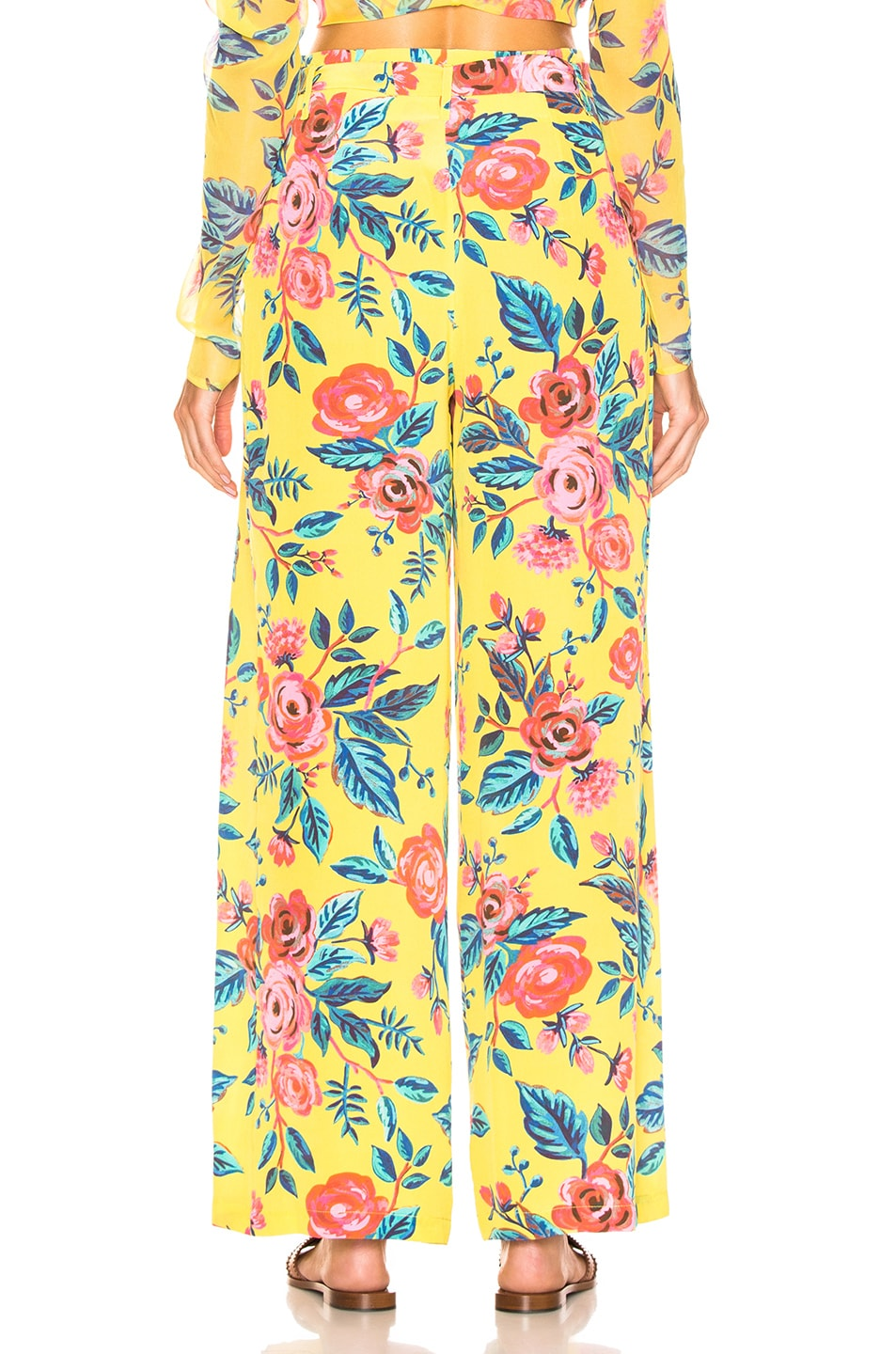 Image 3 of we are LEONE Luke Trousers in Yellow Rose Floral
