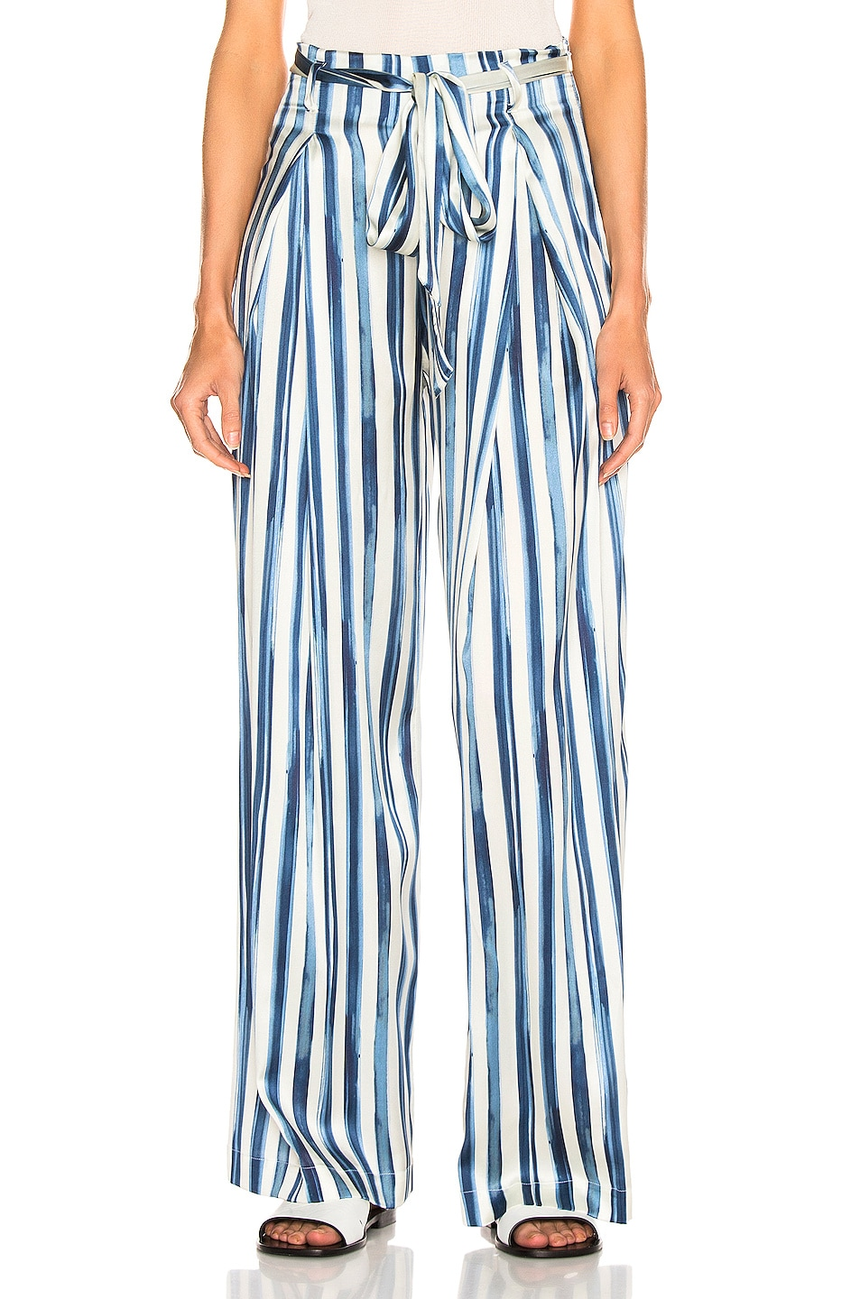 Image 1 of we are LEONE Luke Trouser in Painted Stripe