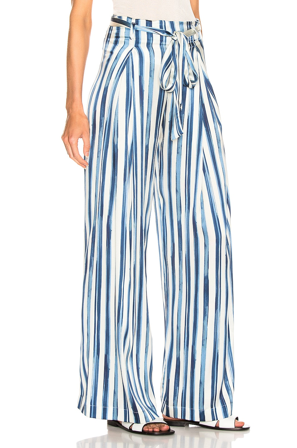 Image 2 of we are LEONE Luke Trouser in Painted Stripe