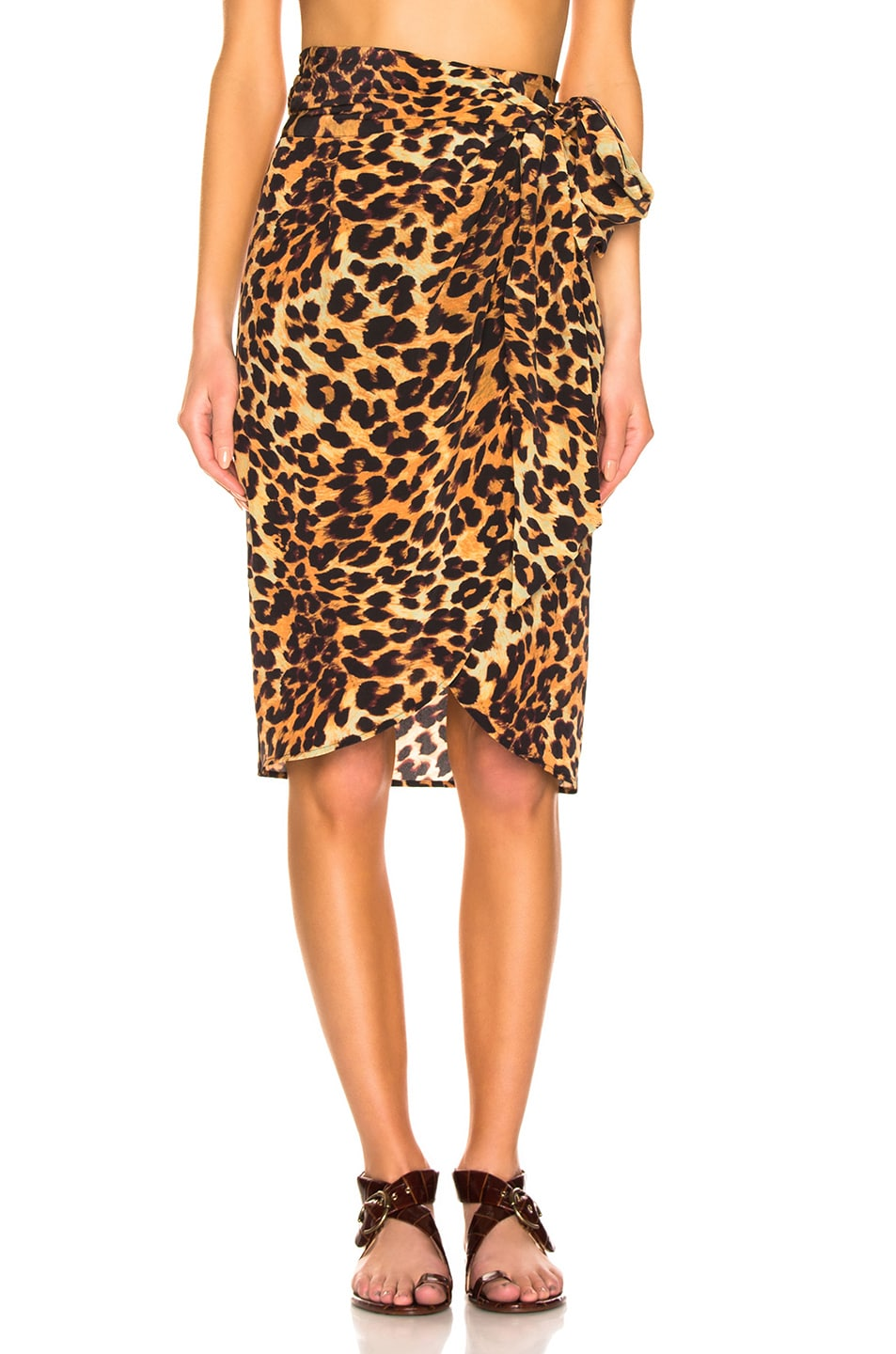Image 1 of we are LEONE Wrap Skirt in Leopard