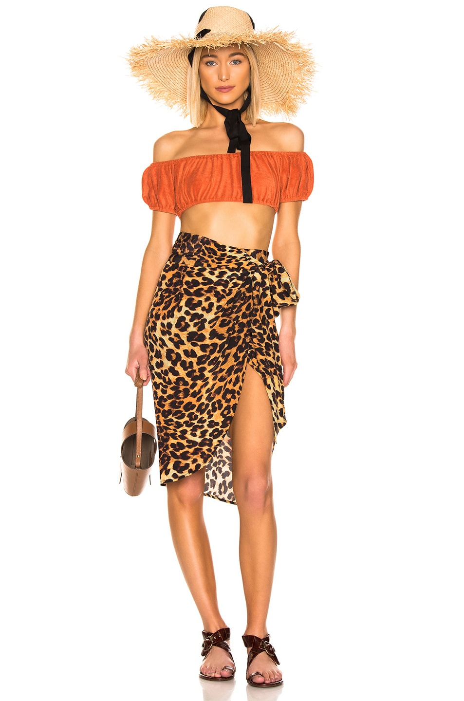 Image 5 of we are LEONE Wrap Skirt in Leopard
