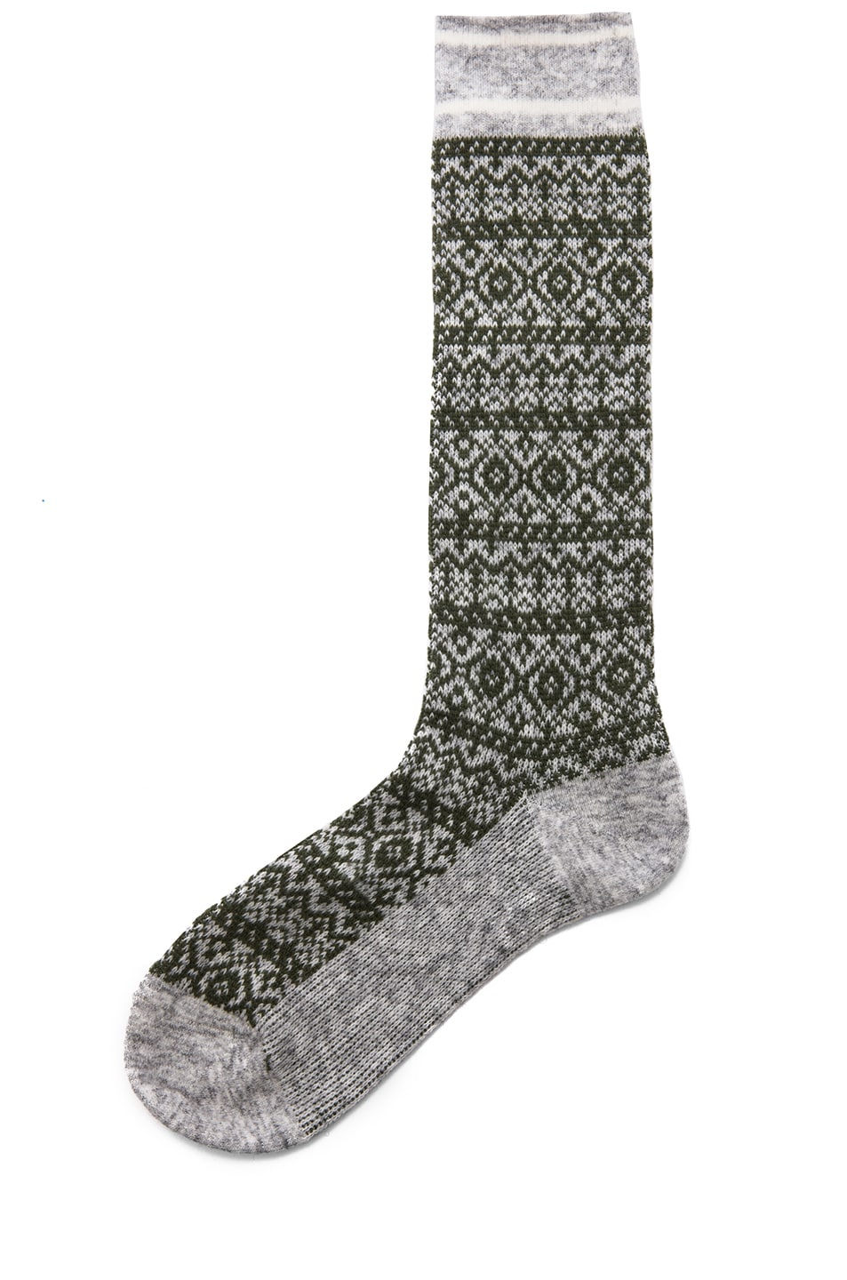 Image 1 of White Mountaineering Middle Socks in Grey