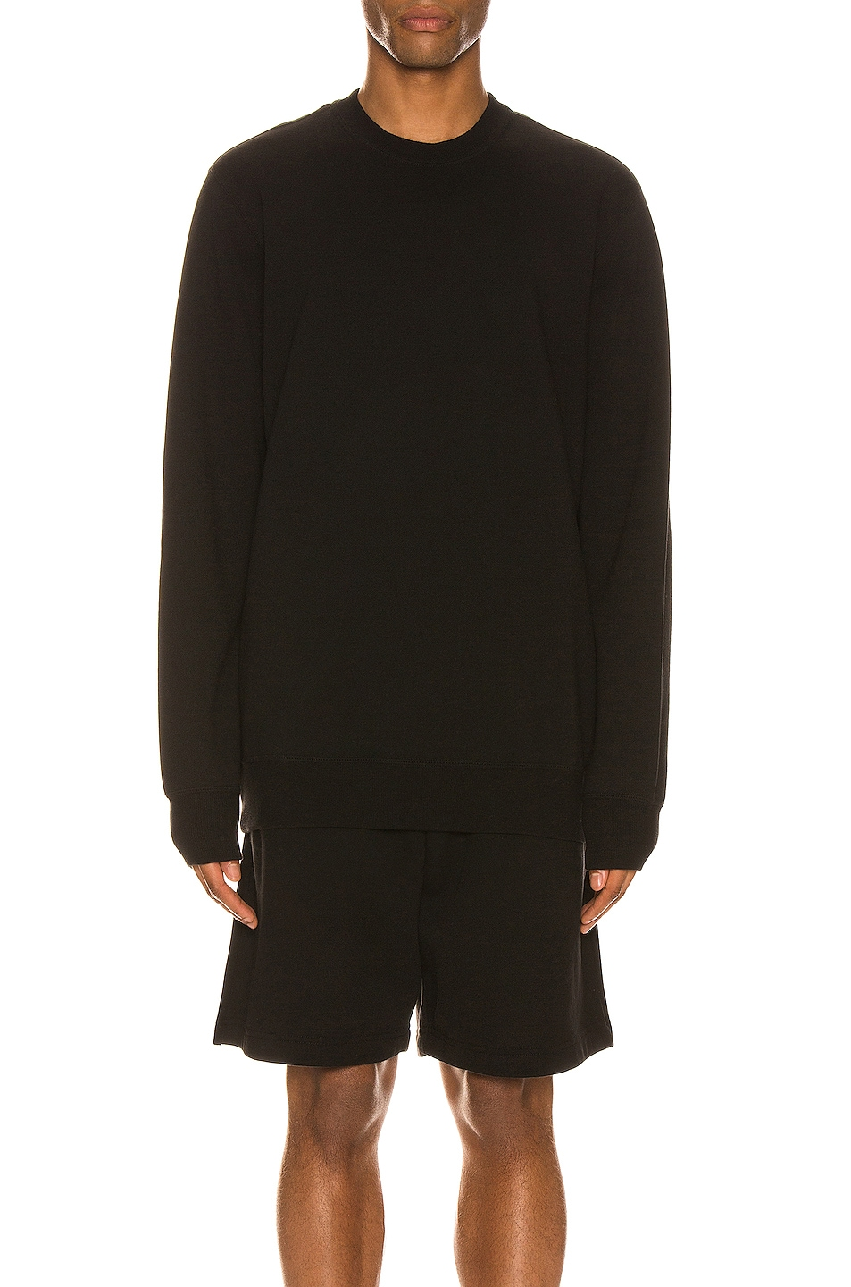 Image 1 of WARDROBE.NYC Track Sweat Top in Black