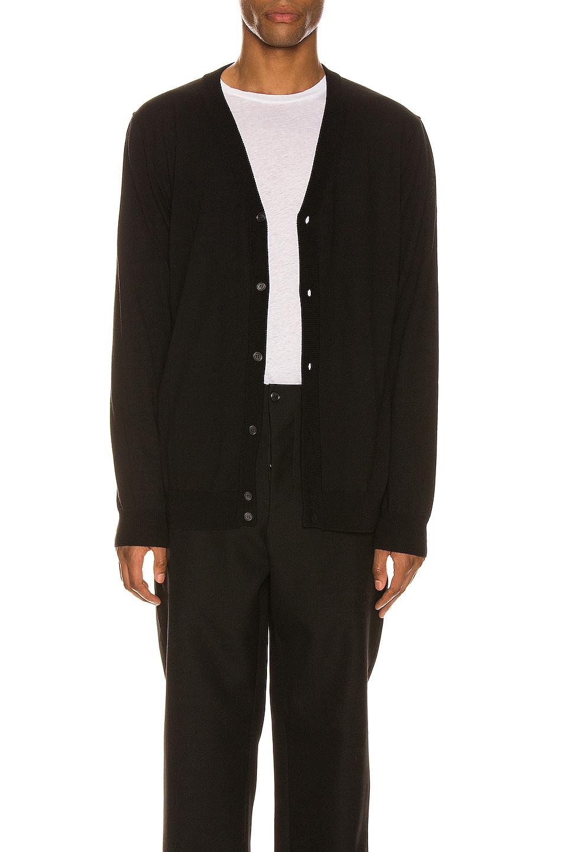 Image 1 of WARDROBE.NYC Cardigan in Black