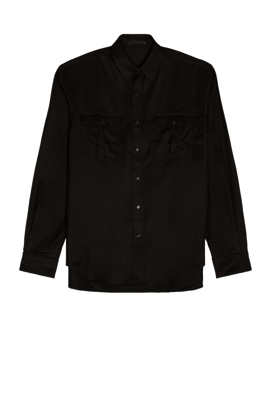 Image 1 of WARDROBE.NYC Flannel Shirt in Black