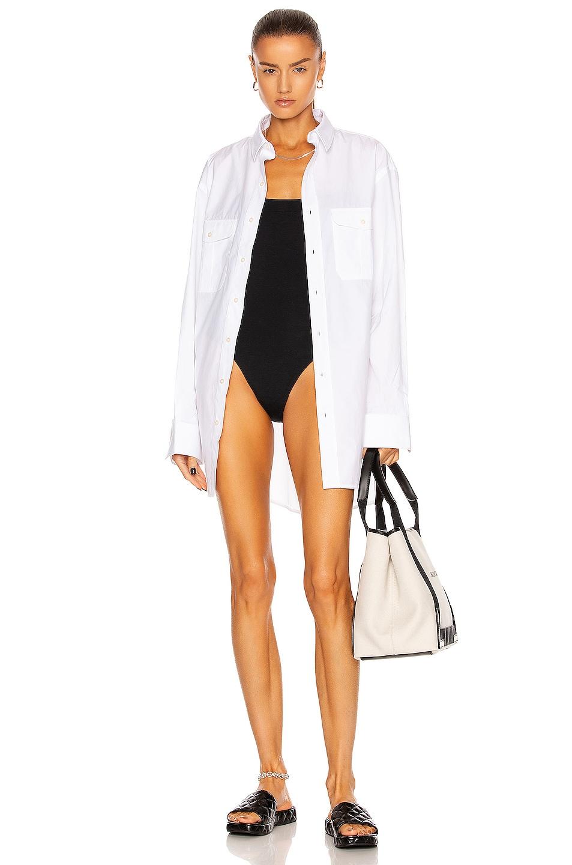 Image 1 of WARDROBE.NYC Shirt Mini Dress in White