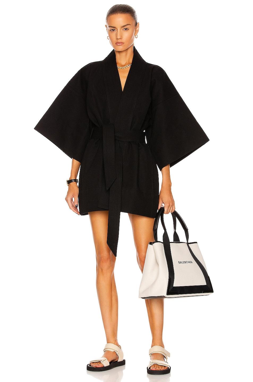 Image 1 of WARDROBE.NYC Mini Kimono in Black