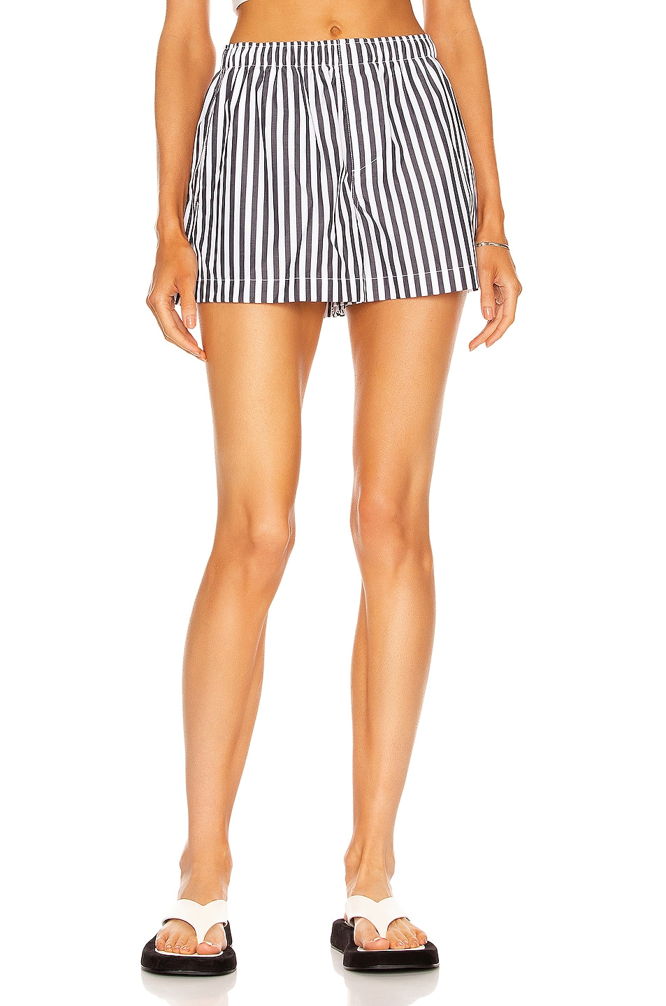 Image 1 of WARDROBE.NYC Boxer Short in Thick Stripe