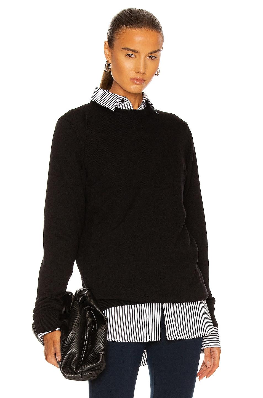 Image 1 of WARDROBE.NYC Crew Sweater in Black